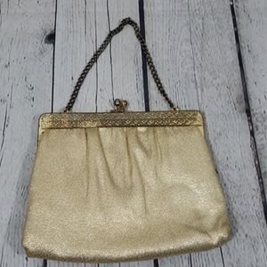 Vintage 60's 70's Ande Gold Chain Clutch Purse